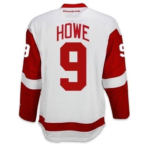 Gordie Howe Detroit Red Wings Reebok Premier Away Jersey (Large)