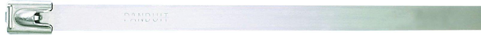 Panduit MLT10H-LP Pan-Steel Self-Locking Cable Tie, General Purpose, Heavy Cross Section, AISI 304 Stainless Steel, 10.0'' Max Bundle Diameter, 0.50'' Min Bundle Diameter, 450lbs Min Tensile Strength, 0.010'' Thickness, 0.31'' Width, 33.0'' Length (Pack of 50)