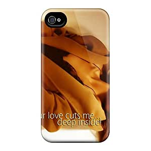 HSNRQdS6533iZlXu Case Cover, Fashionable Iphone 4/4s Case - Your Love Cuts Me