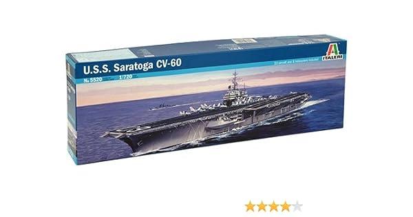 Italeri 5520S USS Saratoga CV-60 - Maqueta de Barco portaaviones (Escala 1:700)
