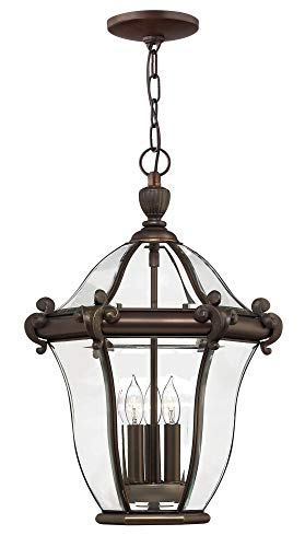 (Hinkley 2442CB Traditional Three Light Hanging Lantern from San Clemente collection in Copperfinish,)