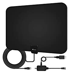 Vansky Amplified HDTV Antenna 60-90 MileCut the cable and get access to FREE HD programs forever including local news, weather forecast and sitcoms,kids and sports programs etc.Enjoy crystal clear HDTV shows,720p,1080i,1080p|ATSC available.S...