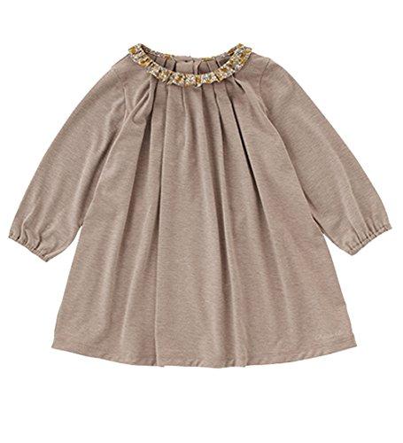 VIYOO Spring Autumn Long Sleeve Toddler Girls Dress With Floral Collar 2018 New Design Kids Cotton Dresses Children Clothing by VIYOO