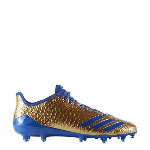 adidas Adizero 5-Star 6.0 Gold Cleat - Men's Football 14 Gold Metallic/Collegiate Royal