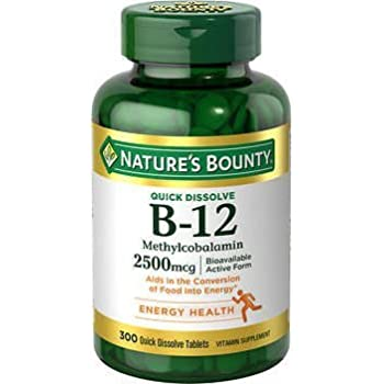 Nature S Bounty Methylcobalamin Vitamin B  Mcg