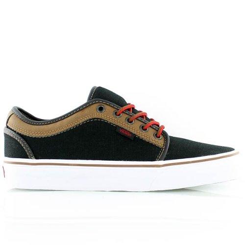 Vans Men's Chukka Low (Leather) Black/Brown Sneaker 11.5 D (M)