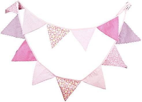 Spaufu Banderines estilo fresco banderines banderas para fiesta de boda, fiesta de cumpleaños, celebración sala de estar, dormitorio, decoración del ...
