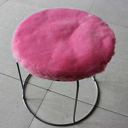 - YHEGV The Cushion Plush, Cushions of Chair More Cushion Thick Round Bar Stool Circular Buffer Drum Stool Winter Hot Pink Cushion Mat 30X30Cm(12X12Cm)