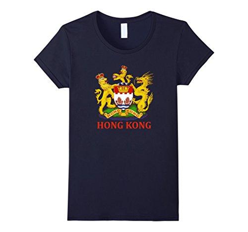 Womens Hong Kong Coat of Arms Souvenir T-Shirt Medium - Hong Kong Woman