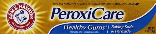 Arm & Hammer PeroxiCare, bicarbonate de soude et de peroxyde Dentifrice antitartre, Monnaie, 6 once Tube