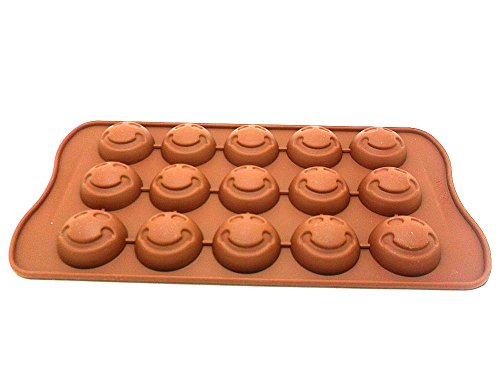 Silicon Chocolate Smiley Face - 5