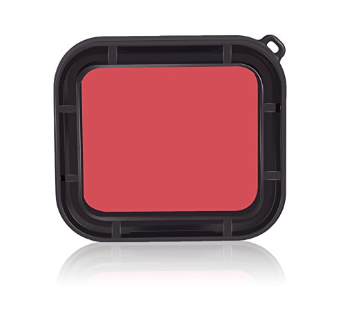SyndeRay Housing Case Compatible GoPro HERO7 Black Hero(2018)/7/6/5 with Red Dive Filter