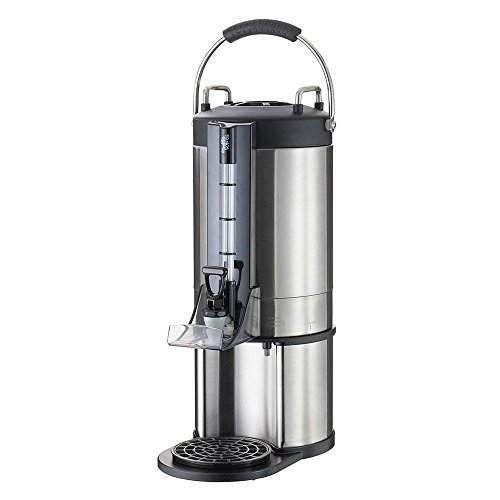 Service Ideas GIU15G Thermal Container, Large Capacity Satellite Dispenser, 1.5 Gallon (192 oz.), Brushed Stainless/Black by Service Ideas