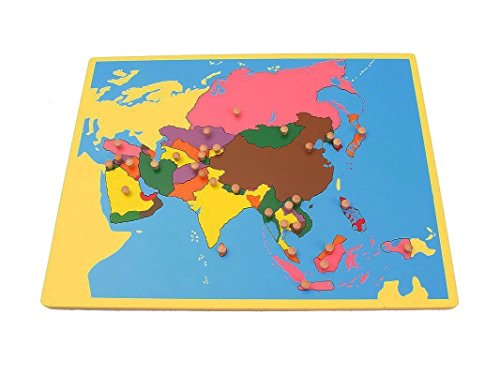 pinkmontessori Montessori Early Childhood Educational Materials - Geography Family Set Small Asia Board Puzzle