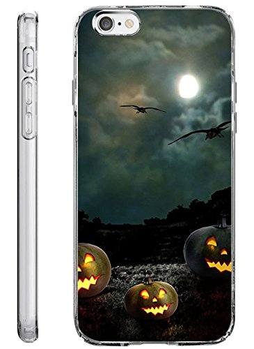 Hard Back Case Cover Shell for iPhone 6s Plus 5.5 Inch Black Night in Halloween]()