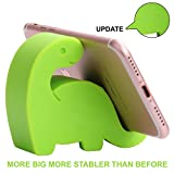 """Plinrise Update New Dinosaur Shape Cute Cell Phone Mounts Candy Color Creative Ipad Set Material of Silica Ge, Size:2.8"""" X 3.1"""" X 1.3"""", For Iphone Ipad Samsung Phone Tablet Plate Pc (Light Green)"""