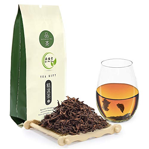 Yan Hou Tang Chinese Organic Yunan Puerh Black Tea Loose Leaf 10 Years Aged Premium Leaves - 100g Delicious Pu'er Tea for Energizing Beverage Detox Weight Loss