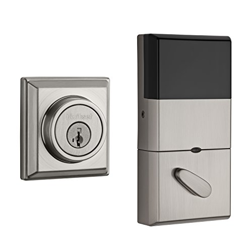 (Kwikset 910 Z-Wave Signature Series Contemporary Electronic Deadbolt in Satin Nickel)