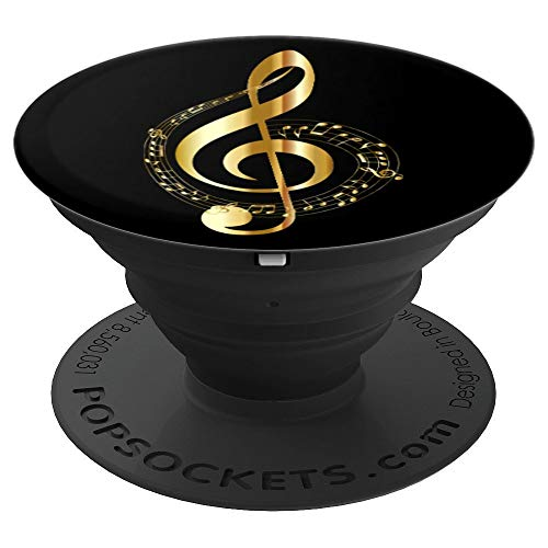 Music Note Clef for Musicians and Music Teacher - PopSockets Grip and Stand for Phones and Tablets ()