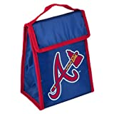 MLB Atlanta Braves Big Logo Velcro Lunch Bag, Team Colors, One Size