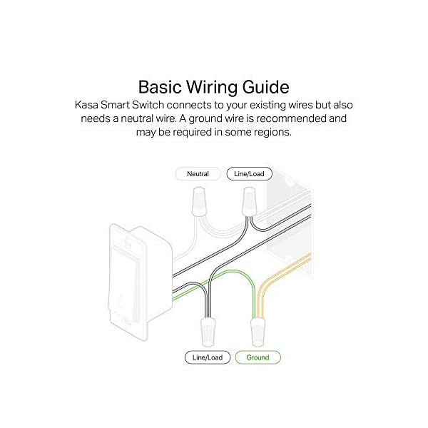 Kasa Smart HS200 Light Switch by TP-Link, Single Pole, Needs Neutral Wire, 2.4Ghz Wi-Fi Light Switch Works with Alexa… 4