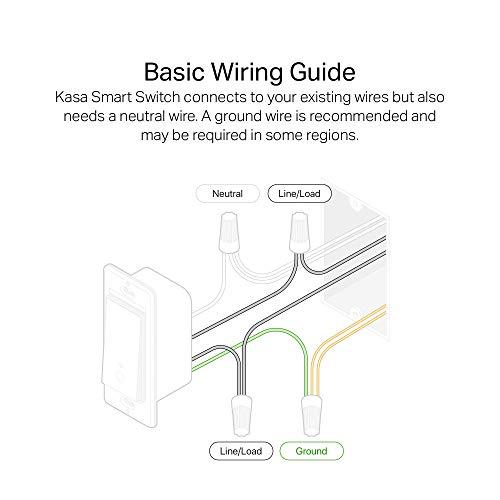 Kasa Smart Light Switch HS200, Single Pole, Needs Neutral Wire, 2.4GHz Wi-Fi Light Switch Works with Alexa and Google…