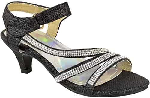 da886177ec3 Fashion Thirsty Girls Kids Childrens Party Sandals Diamante Wedding Low  Heel Shoes Dance Size
