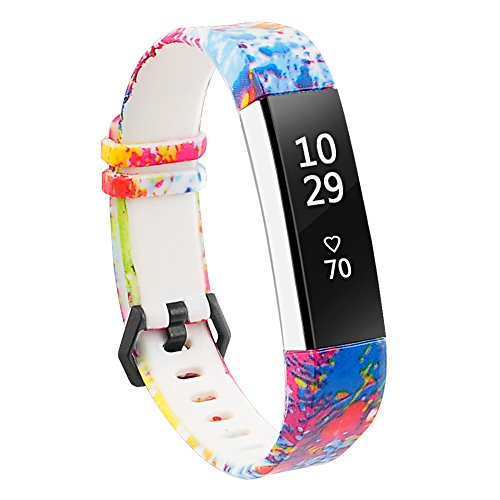 RedTaro Bands Compatible with Fitbit Alta and Fitbit Alta HR,Splash-Ink,Standard Size for 5.5-8.1 Wrists