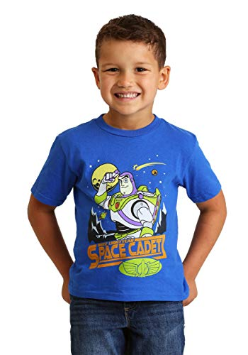 (Disney Little Boys' Toddler Buzz Light Year Space Cadet Toddler T-Shirt, Royal,)