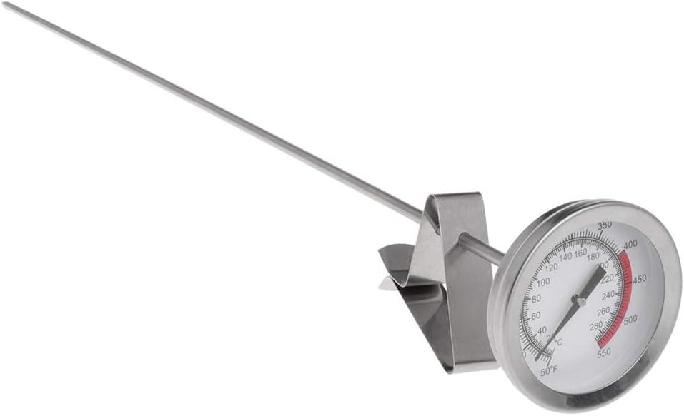Exing Termómetro analógico termómetro de Cocina, sartén, Patatas Fritas Pollo asado alas Barbacoa Termómetro 40cm de Largo de sonda