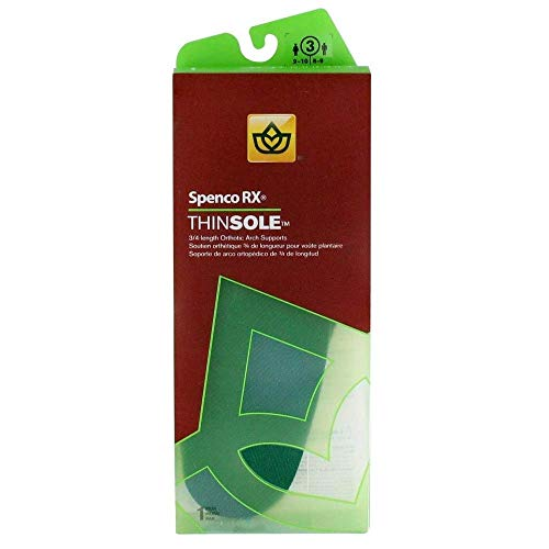 Thinsole 3/4 Length Insole W 11/12 M 10/11