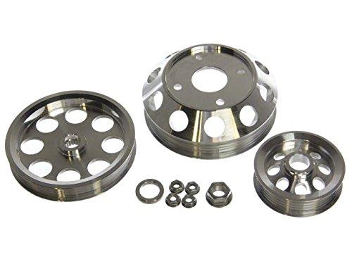 (P2M P2-EPKNS13S-CCR Silver Aluminum Pulley Kit - Nissan S13 SR20DET)