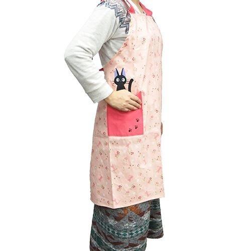 Majo Kiki's delivery service [apron, H type apron / flowers and Gigi Ghibli Maru, kitchen goods anime toy store (Kiki Delivery Service Apron)