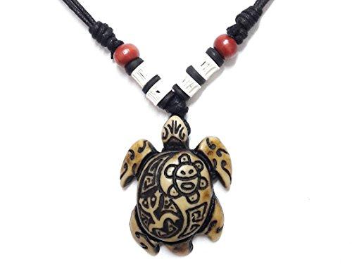 Robin Girl Costume Diy (Hawaiian Brown Sea Turtles Necklace - Yin Yang Coqui Taino Sun - Adjustable Cord)