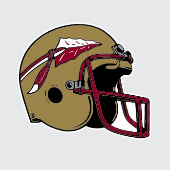 Florida state seminoles football helmet 4 vinyl decal car truck sticker fsu
