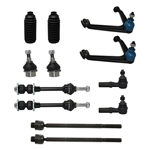 Detroit Axle - New Complete 12-Piece Front Suspension Kit for 02-05 Dodge Ram 1500 4x4 ONLY - 2 Upper Control Arm & Ball Joint, 2 Lower Ball Joint, All 4 Tie Rod, 2 Sway Bars [5-Lug Wheel Models Only]