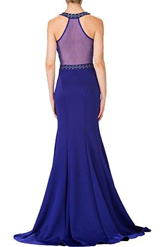Damen Abendkleider Elegant Braut Navy Satin Blau Ballkleider Festlichkleider mia Meerjungfrau La Partykleider 2018 qOZ8n