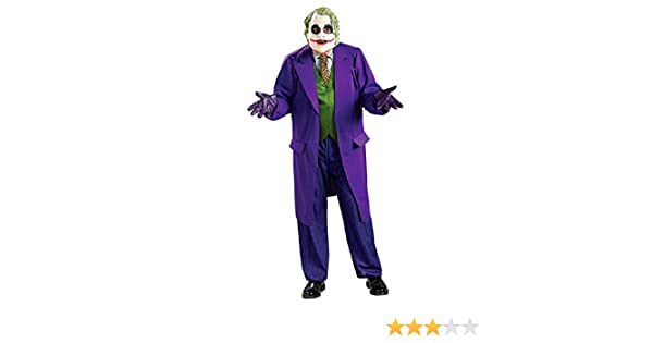 Hombre Disfraz Batman The Joker Dark Knight con máscara, Talla XL