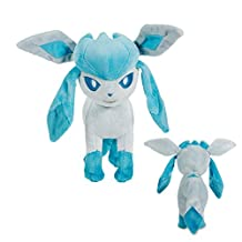 "Pokemon 8""/ 20cm Glaceon Eevee Plush Soft Toy Stuffed Doll Cute Japanese Cartoon Standing Fighting Style"