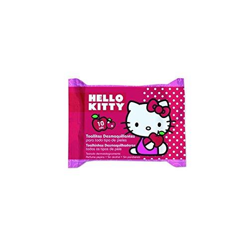 Brevia - Toallitas desmaquillante 10ud hello kitty: Amazon.es: Salud y cuidado personal