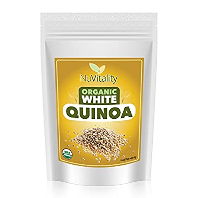 Organic White Quinoa: Certified Organic Quinoa, Premium Quality Grade - Great for Weight Loss - 16 Ounces - 100% Satisfaction Fully Guaranteed