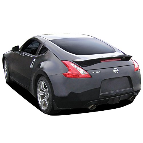 (Dawn Enterprises 370Z Factory Style Flush Mount Spoiler Compatible with Nissan 370Z - Black Pearl (G41))