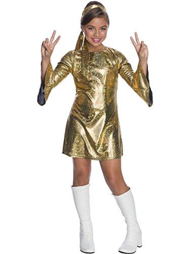 Charades Little Girl's Hologram Disco Diva Childrens Costume, as Shown, Medium ()