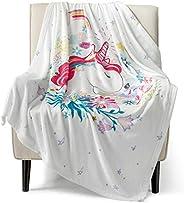 Bedsure Unicorn Flannel Fleece Blanket