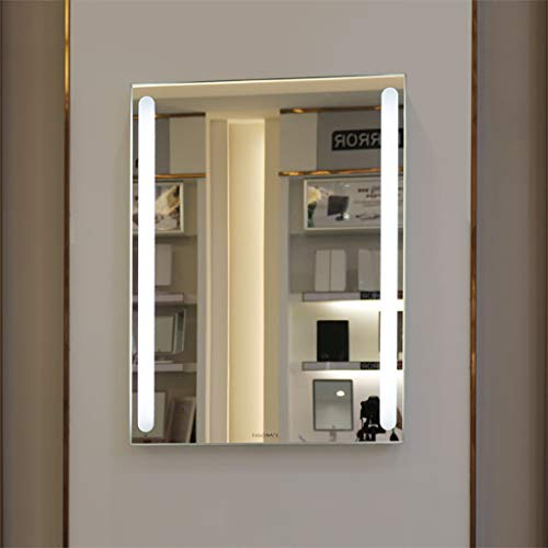 Mirror Rectangular LED Bathroom Wall Mount, Explosion Proof Touch Switch Rounded and Smooth Suitable for Bedroom Bathroom Bathroom Living Room Hotel