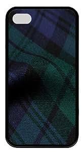 Black Watch Tartan TPU Black Case for iphone 4S/4