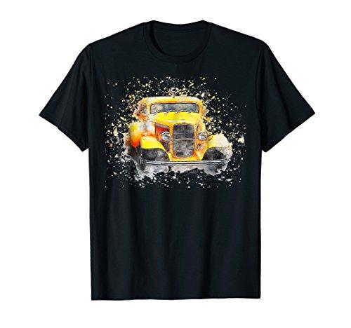 Old Vintage American Classic Car T-Shirt watercolor Retro