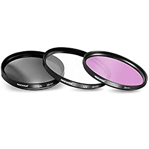 Neewer New 58mm 3-pc Photographic Lighting Filter Kit (UV, FLD, CPL) For Any 58 mm Lens