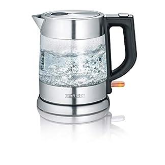 SEVERIN WK 3468 Glas-Wasserkocher (ca. 2.200 W, 1 L) edelstahl/schwarz 7
