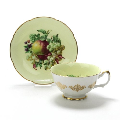 Cup & Saucer by Royal Grafton, China, Fruit